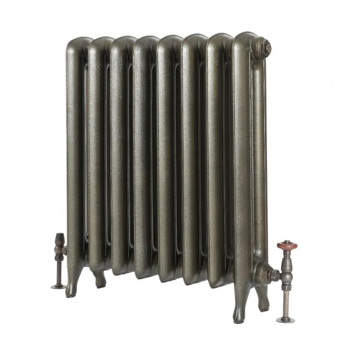 Milano Tamara - Oval Column Cast Iron Radiator - 760mm Tall - Antique Brass cut out