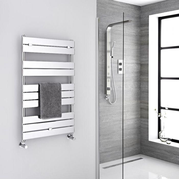 Milano Lustro Designer Chrome Flat Panel Heated Towel Rail