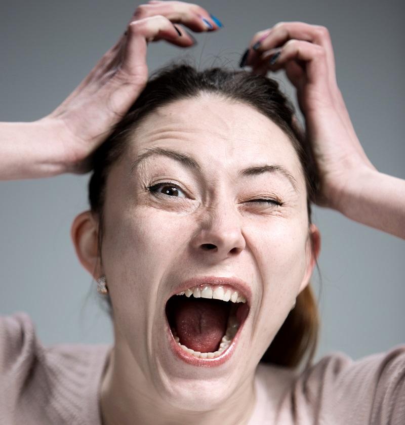 woman becoming angry and shouting