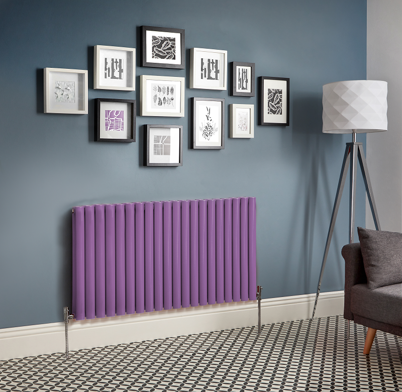 purple designer radiator