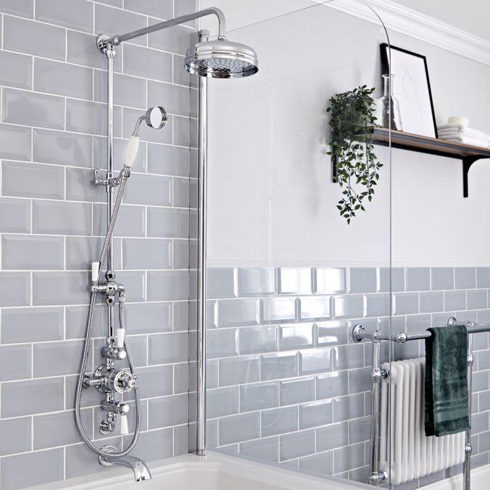 Milano Elizabeth Electric heated towel rail in a bathroom