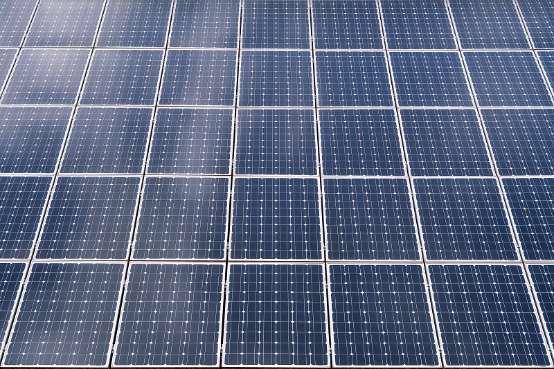 a close up image of solar panels