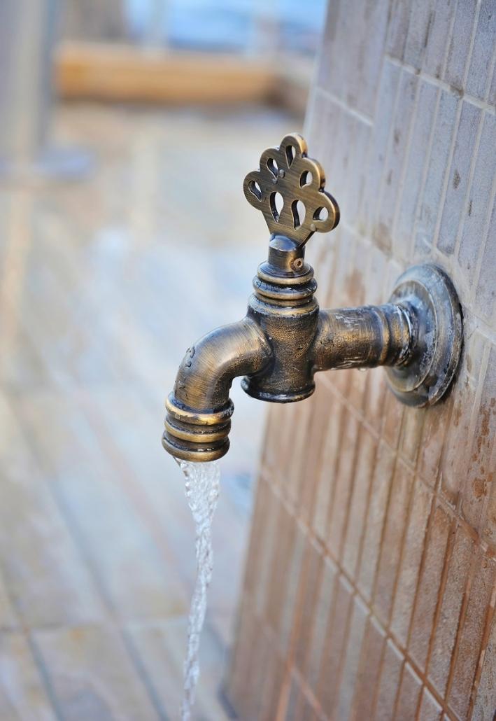 bronze outdoor spigot