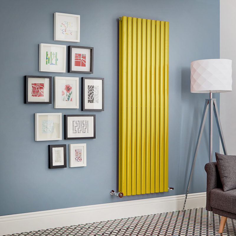 Yellow designer radiator