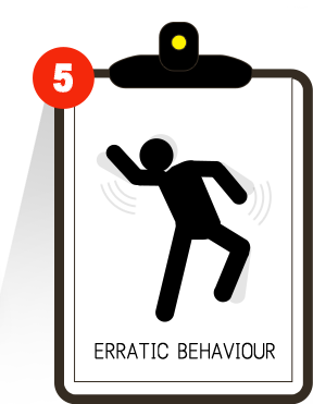 erratic behaviour